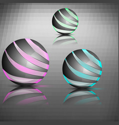 spheres with lines vector image