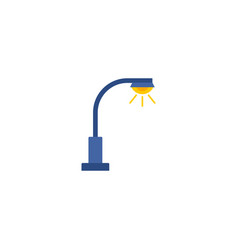 street light icon flat element vector image