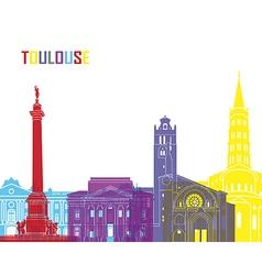 Toulouse skyline pop vector image
