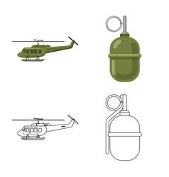 Weapon and gun symbol vector
