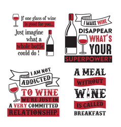 wine quote and saying 100 best for graphic in vector image