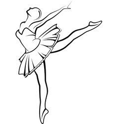 With a ballet dancer vector