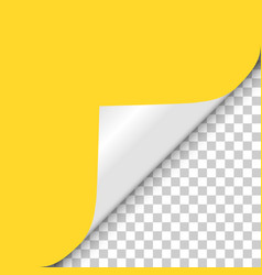 Yellow page twisted angle from shadow to vector