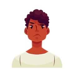 Young african man face angry facial expression vector