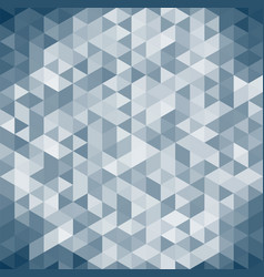 3d abstract geometric dark blue triangle vector image vector image