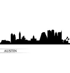 Austin city skyline silhouette background vector image vector image