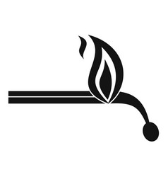burning match icon simple style vector image vector image