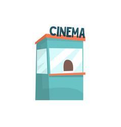 cinema ticket booth box office kiosk cartoon vector image vector image
