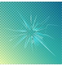 Cracked or broken shattered glass mirror vector image