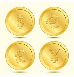 Golden Coins Set vector image vector image