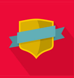 badge icon flat style vector image vector image