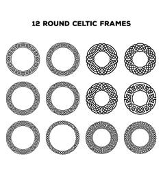 Round Celtic Frames vector image
