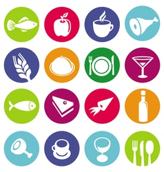 set or restaurant icons and food vector image vector image