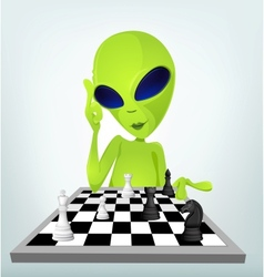Cartoon Alien Chess vector image
