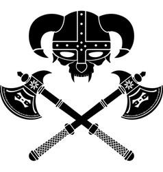 fantasy viking helmet second variant vector image vector image