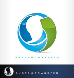 System transfer logo or exchange symbol vector image vector image