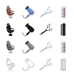 armchair furniture leather and other web icon vector image vector image