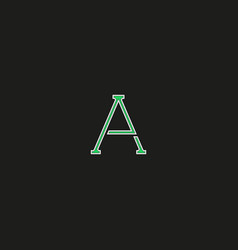 capital a logo letter thin line modern hipster vector image vector image