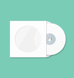 CD cover template DWD Box for CD-R vector image