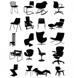 Classic chairs vector