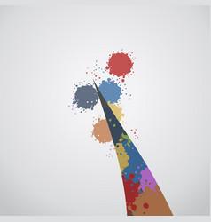 color art paint vector image vector image