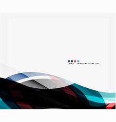 elegant wave background vector image