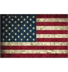 Flag of Usa - mosaic vector image vector image