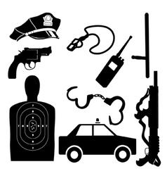 Police equipment set vector