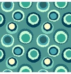 Seamless geometric polka do spotty pattern Polka vector image vector image