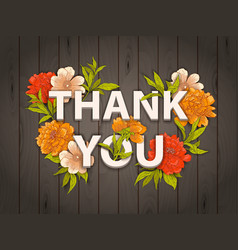 Thank you floral card vector image