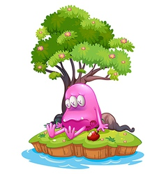 A poisoned monster in an island vector image