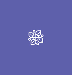 abstract flower line art logo icon vector image