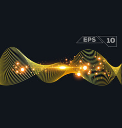abstract gold wave vector image