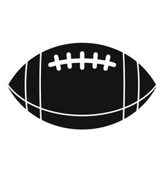 american football leather ball icon simple style vector image