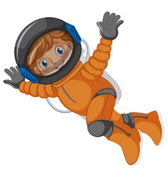 An astronaut on white background vector