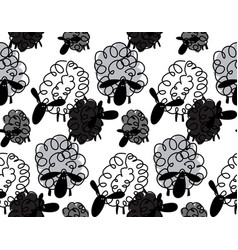 animals for kids funny sheep background vector image