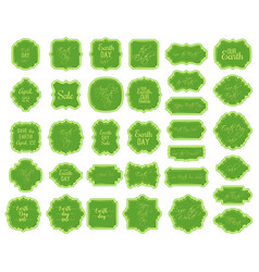 April 22 world earth day borders and frames on vector
