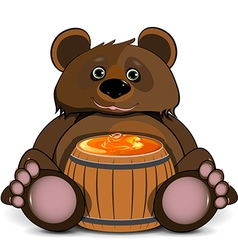 Bear with a Barrel of Honey vector
