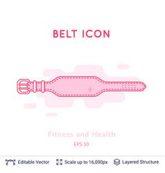belt for back protection vector image