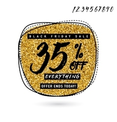 Black Friday Sale with vector image