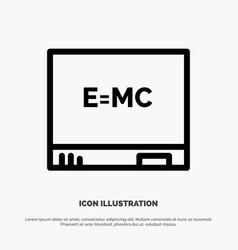 board education formula line icon vector image