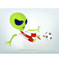 Cartoon Alien Soccer vector image