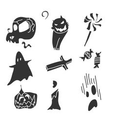 cartoon happy halloween vector image