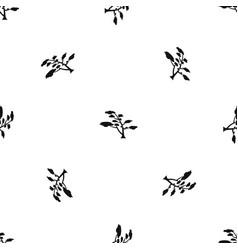 cedar pattern seamless black vector image