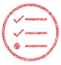 Checklist fabric textured icon vector