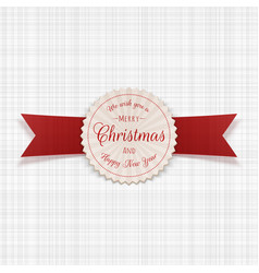 circle merry christmas realistic frame with text vector image