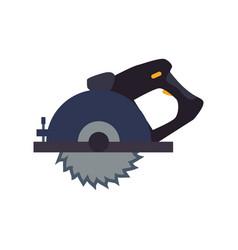 circular saw carpentry tool vector image
