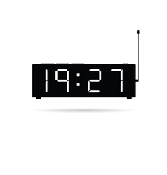 Clock digital icon vector