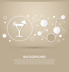 Cocktail party martini icon on a brown background vector