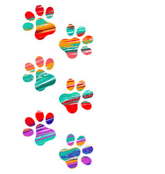 colorful cat tracks vector image